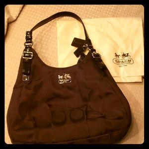 Black coach fabric bag